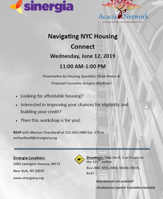 Navigating Housing Connect Sinergia Ny